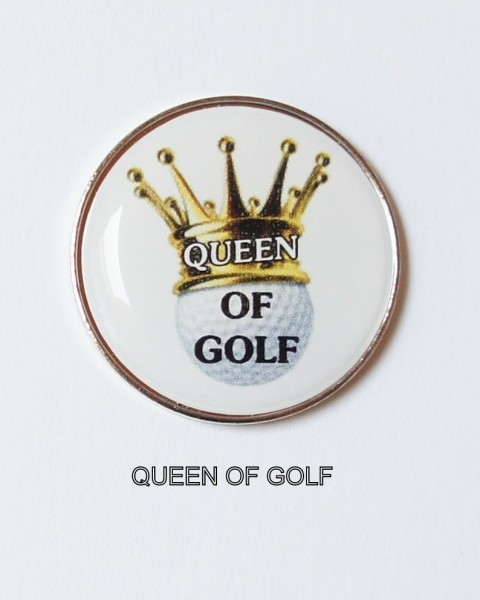 Golfball-Marker QUEEN OF GOLF